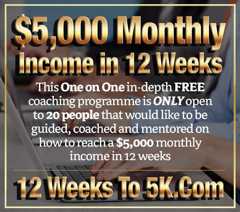 12 Weeks to a $5,000 Monthly Income We have just launched our FREE online coaching programme