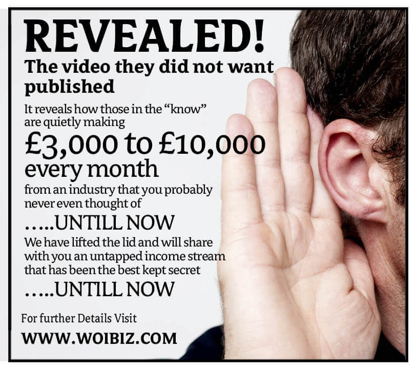WOIBIZ Grab your own exclusive postcode area £3,000 to £8,000 Monthly