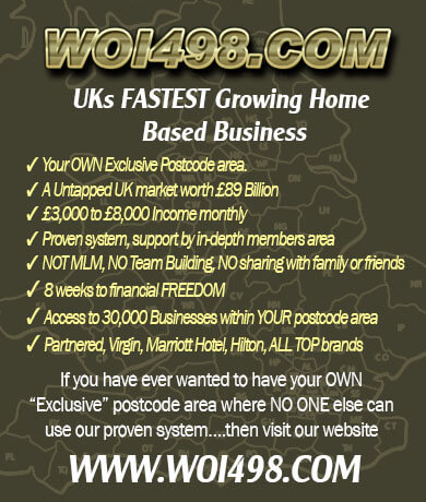 One of the TOP UKs Business Opportunities. Exclusive Postcode Area, 2K-5K Monthly Income.